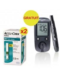 ACCU-CHEK Active Coffret 100 Bandelettes + 1 Appareil
