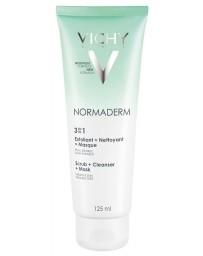 Vichy Normaderm 3en1 : Exfoliant + Nettoyant + Masque