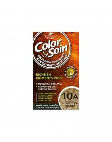 COLOR & SOIN COLORATION PERMANENTE TEINTE BLOND CLAIR CENDRÉ - 10A